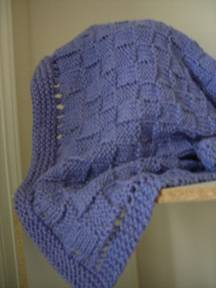 Easy Basket Weave Knit Pattern : Easy Basketweave Baby Blanket